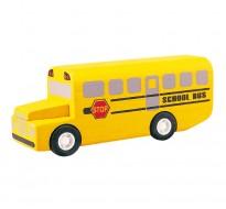 деревянная игрушка Школьный автобус