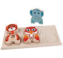 деревянная игрушка Зоо-пазл