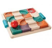 деревянная игрушка Балансирующий лабиринт с шаром