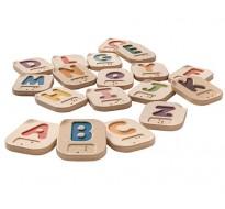 деревянный Английский алфавит Брайля A-Z