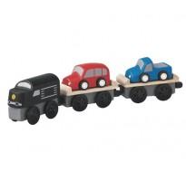 деревянная игрушка Поезд-автовоз