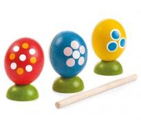 Набор деревянных погремушек в виде яиц