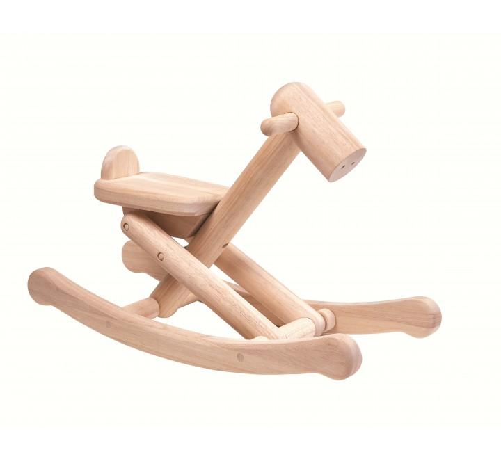 деревянная игрушка Складная лошадка-качалка
