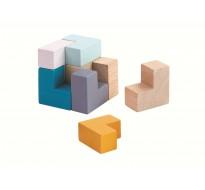 деревянная игрушка 3D пазл кубик