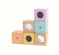 деревянная игрушка Сенсорные блоки