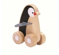 деревянная игрушка Пингвин на колёсах