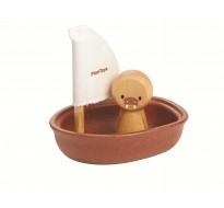 деревянная игрушка Морж в лодке