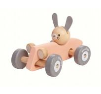 деревянная игрушка Машина зайчика-гонщика