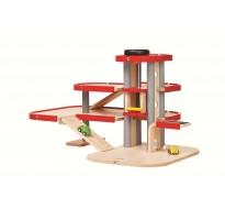 деревянная игрушка Парковка-гараж