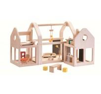 деревянная игрушка Уникальный кукольный домик