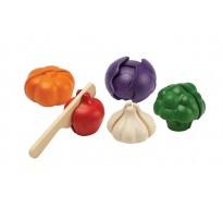 деревянная игрушка Вегетарианский набор 5 цветов