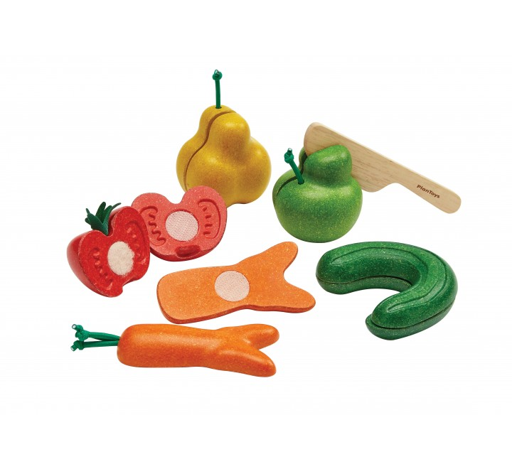 """деревянный игровой набор """"Некрасивые"""" фрукты и овощи"""