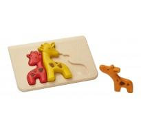 деревянная игрушка головоломка Жираф