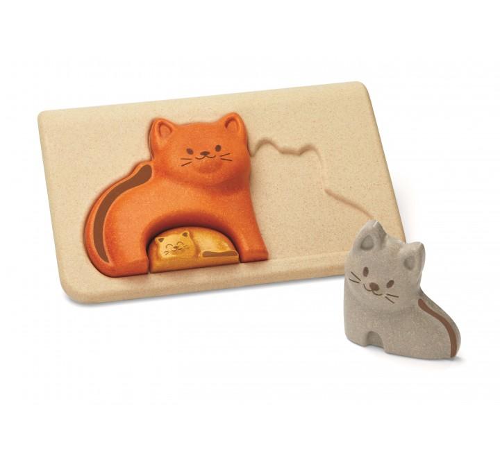 деревянная игрушка головоломка Кошка