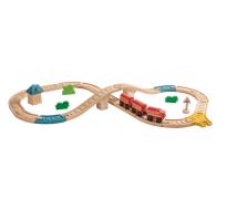 деревянная игрушка Железная дорога в виде восьмёрки
