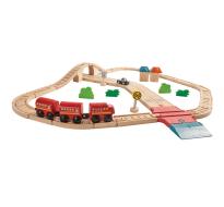 деревянная игрушка Автомобильная и железная дорога