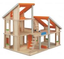 деревянная игрушка Кукольный домик Шале без мебели