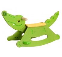 деревянная игрушка Крокодил-качалка