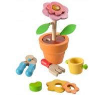 деревянная игрушка Цветок