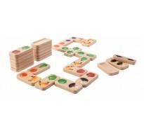 деревянная игрушка Домино фрукты и овощи