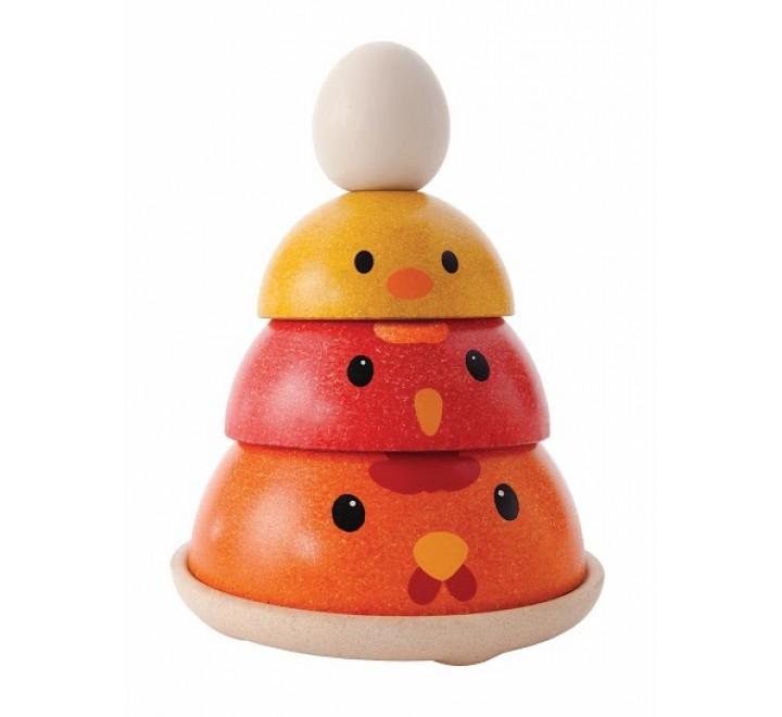 деревянная игрушка Куриное гнездо
