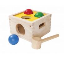деревянная игрушка Забивалка бей и бросай