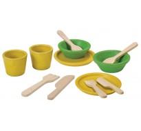 деревянная игрушка Набор столовой посуды