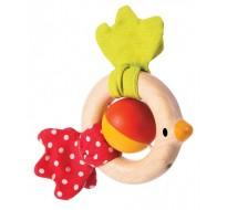 деревянная игрушка Погремушка птичка