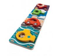 деревянная игрушка Пазл транспорт