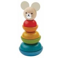 деревянная игрушка Пирамидка (Мышь)