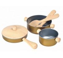 деревянная игрушка Кухонная посуда