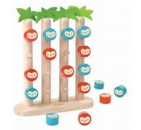 деревянная игрушка Обезьянки в ряд