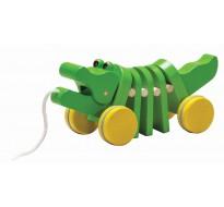 деревянная игрушка Каталка танцующий крокодил