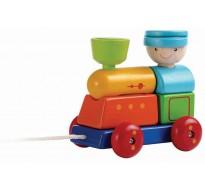 деревянная игрушка Поезд-сортер