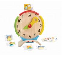 деревянная игрушка Обучающие часы
