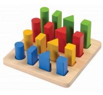 деревянная игрушка Наборная доска с геометрическими фигурами