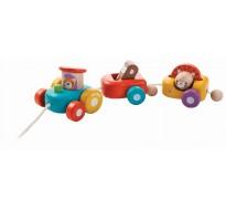 деревянная игрушка Счастливый паровозик