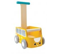 деревянная игрушка Каталка фургон - жёлтая