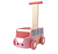 деревянная игрушка Каталка фургон - розовая