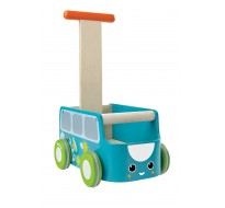 деревянная игрушка Каталка фургон - голубая