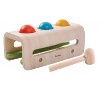 деревянная игрушка Забивалка с шарами и молотком