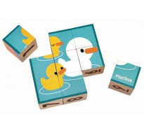 деревянная игрушка Кубики-пазлы
