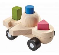 деревянная игрушка Пазл-сортер - самолёт