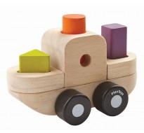 деревянная игрушка Пазл-сортер - лодка