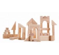 деревянные Кубики 50 деталей