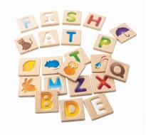 деревянный Английский алфавит A-Z