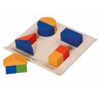 деревянная игрушка Забавные геометрические формы