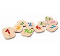 деревянные Числа шрифтом Брайля 1 – 10