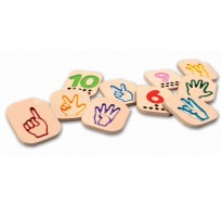 деревянные Числа 1-10 с символами язык жестов