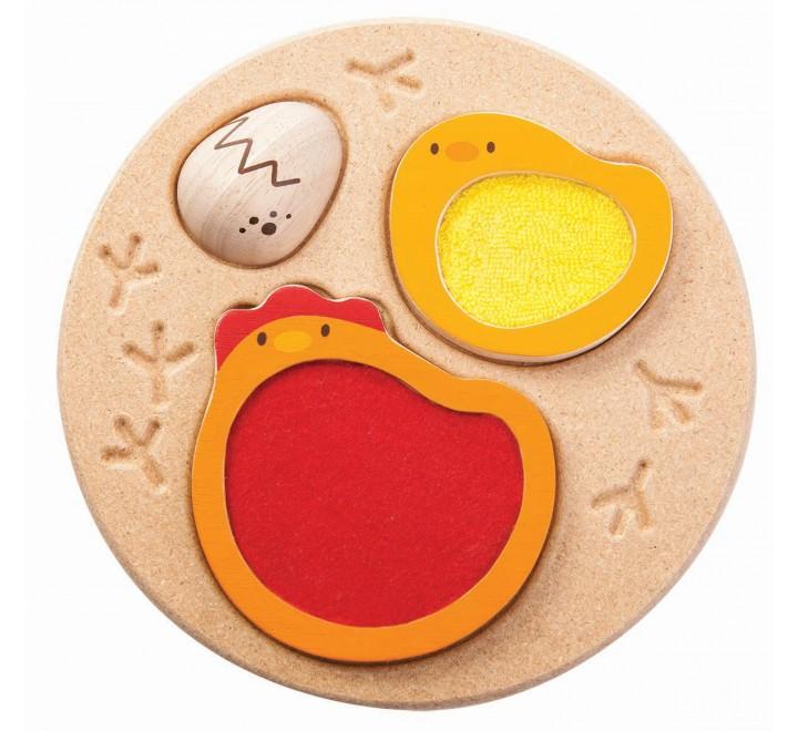 деревянная игрушка Пазл курочка